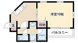 愛知県名古屋市昭和区長池町5丁目の賃貸アパートの間取り