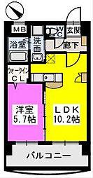 ピュア博多駅南弐番館[202号室]の間取り