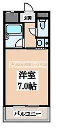 リープハーベン北花田[2階]の間取り