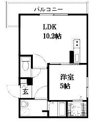 北海道札幌市南区澄川三条1丁目の賃貸マンションの間取り