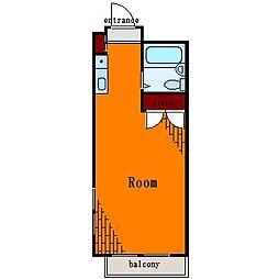 フォーシム住吉II[5階]の間取り