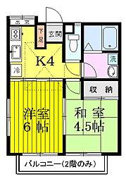コーポ大楽寺[101号室号室]の間取り