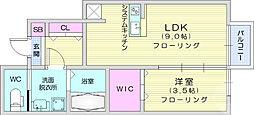 仙台市地下鉄東西線 八木山動物公園駅 徒歩25分の賃貸アパート 1階1LDKの間取り