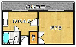大阪府茨木市真砂2丁目の賃貸アパートの間取り