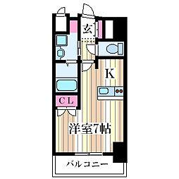 メロディア塚本[10階]の間取り