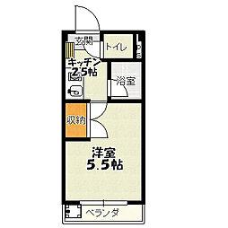 新栄ハイツ[303号室]の間取り