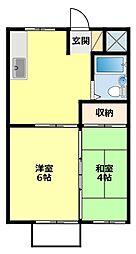 愛知県豊田市今町2丁目の賃貸アパートの間取り