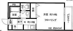 東京都杉並区西荻北1丁目の賃貸アパートの間取り