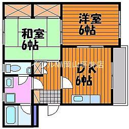 岡山県岡山市東区君津丁目なしの賃貸マンションの間取り