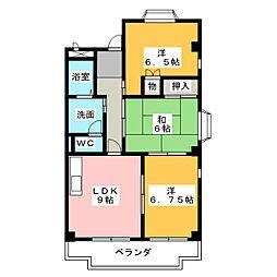 カーサAG[2階]の間取り