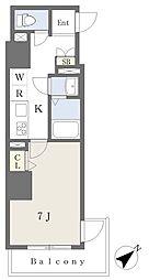 東京メトロ有楽町線 要町駅 徒歩11分の賃貸マンション 8階1Kの間取り