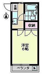 東京都世田谷区給田2の賃貸アパートの間取り