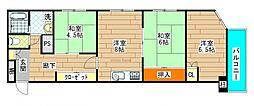 サントピア九条[4階]の間取り