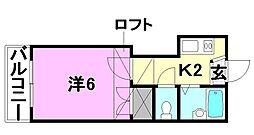 ピスカートル・K[205 号室号室]の間取り
