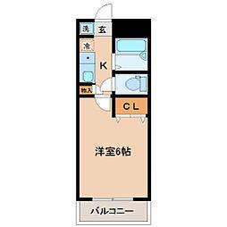 テラス苦竹[4階]の間取り