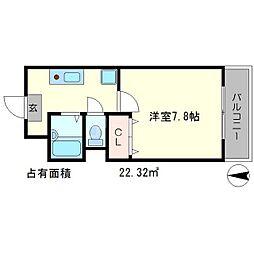ハピネス神宮道[2階]の間取り