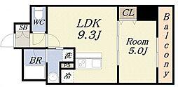 サンガーデン 3階1LDKの間取り