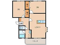 エスポワールZen[1階]の間取り