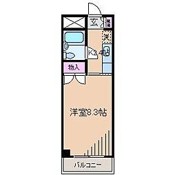 神奈川県横浜市港北区大倉山1丁目の賃貸マンションの間取り