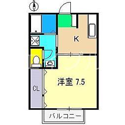 ハイツファータ[2階]の間取り