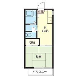 小中台コーポ[1階]の間取り