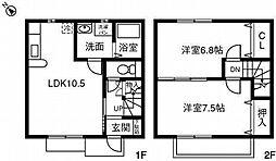 [テラスハウス] 愛知県高浜市田戸町四丁目 の賃貸【/】の間取り