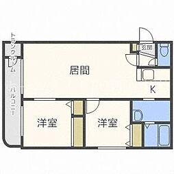 北海道札幌市東区東苗穂六条3丁目の賃貸マンションの間取り