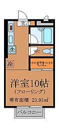 東京都杉並区善福寺4丁目の賃貸アパートの間取り
