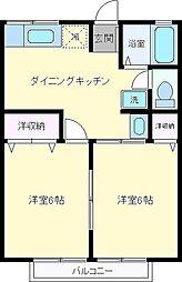 シティハイムアオヤマ[2階]の間取り