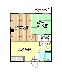 YKマンション[201号室]の間取り