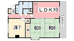 シャレー野田[5階]の間取り