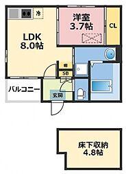 (仮称)ハーモニーテラス東大阪市花園東町一丁目A棟[102号室号室]の間取り