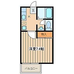 神奈川県川崎市麻生区王禅寺西3丁目の賃貸アパートの間取り