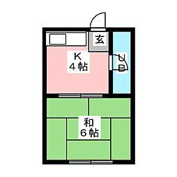 高宮ハウス[2階]の間取り