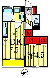K'SシャンブルIX[1階]の間取り