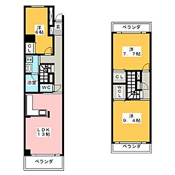アクア ベレーザ[2階]の間取り