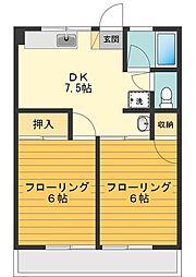 シティハイムシンメイ[2階]の間取り