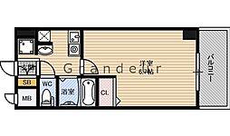 Osaka Metro長堀鶴見緑地線 蒲生四丁目駅 徒歩4分の賃貸マンション 5階1Kの間取り