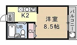 アークハイム四ノ宮[305号室号室]の間取り