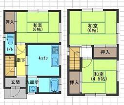 JR阪和線 百舌鳥駅 徒歩21分の賃貸一戸建て 3DKの間取り