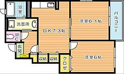 メゾンドリシュ D棟[1階]の間取り