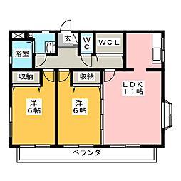 雅ヒルズ21[3階]の間取り