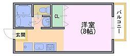 ルネットAdachi[102号室]の間取り