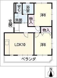 ニュークリスタル関戸[1階]の間取り
