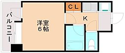 ピュアドーム高宮アクセラ[6階]の間取り