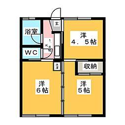 R.OKUNO[2階]の間取り