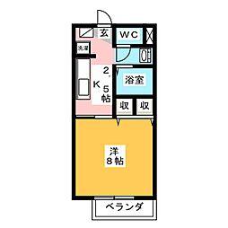 エクセルハイムC[2階]の間取り