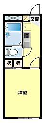 愛知県豊田市竹生町3丁目の賃貸アパートの間取り