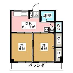 長盛堂ビル[4階]の間取り