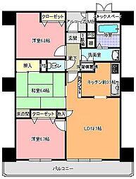 ミオスタワー(609号室)[609号室]の間取り